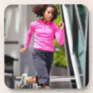 Female Runner in London Coaster