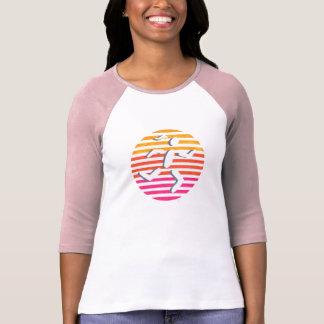 female runner pink shirt