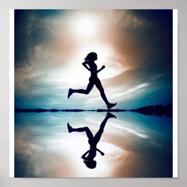 SELLER Female runner poster