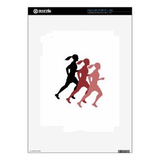 Female Runner iPad 2 Decal