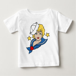 Female Sailor Tattoo Baby T-Shirt