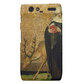 Female Saint with a Stag (oil on panel) Droid RAZR Case