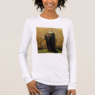 Female Saint with a Stag (oil on panel) Long Sleeve T-Shirt