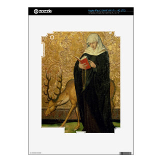 Female Saint with a Stag (oil on panel) iPad 3 Decals