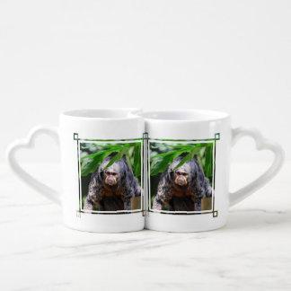 Female Saki Monkey Couple Mugs