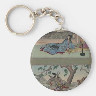 Female Samurai circa 1800s Keychain