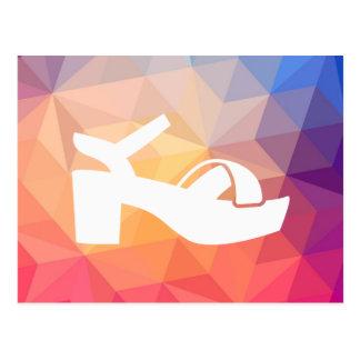 Female Sandals Pictograph Postcard