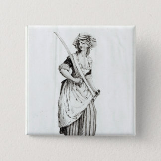 Female Sans-Culotte, 1792 Pinback Button