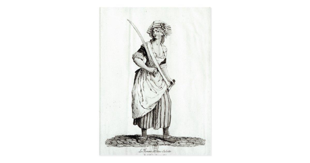 female sans culotte 1792 postcard zazzle. Black Bedroom Furniture Sets. Home Design Ideas
