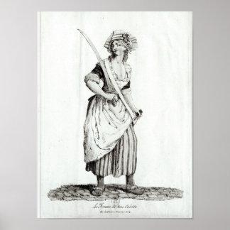 Female Sans-Culotte, 1792 Poster