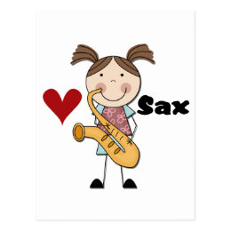 Female Saxophone Player Tshirts and Gifts Postcard