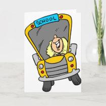 Female School Bus Driver Card
