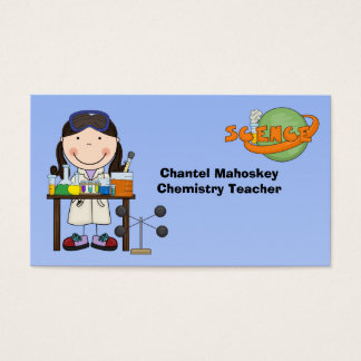 Female Scientist in Lab Business Cards