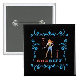Female Sheriff Button