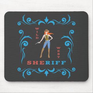 Female Sheriff Mousepad