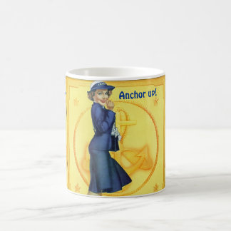 """Female Shipmate's """"Ahoy! Anchor Up & Come Below!"""" Mugs"""