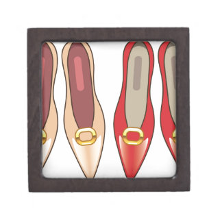 Female Shoes top view Jewelry Box