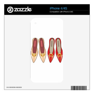 Female Shoes top view Skins For iPhone 4S