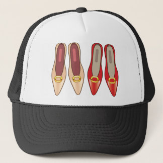 Female Shoes top view Trucker Hat