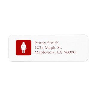 Female Sign Label