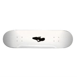 Female Silhouette at Party Custom Skateboard