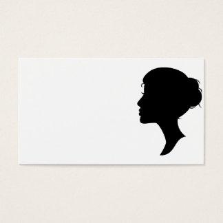 Female Silhouette Business Card