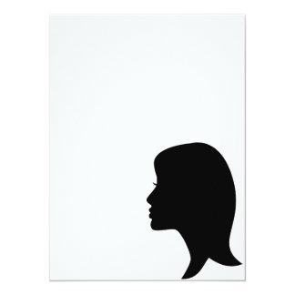 Female Silhouette Personalized Invitations