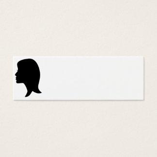 Female Silhouette Mini Business Card