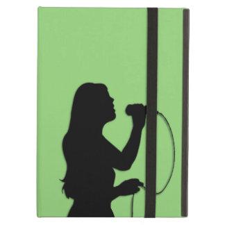 Female Singer Green iPad Air Covers