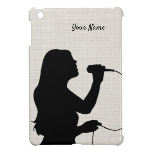 Female Singer Mini iPad Case Personal