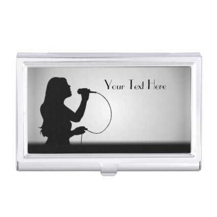 Female Singer Personalized Business Card Case