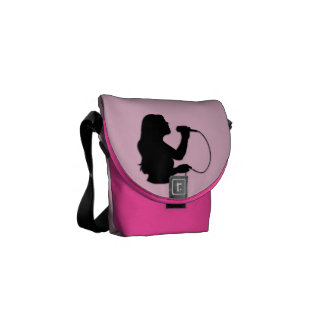 Female Singer Pink Messenger Bag
