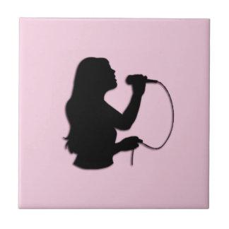 Female Singer Pink Tile