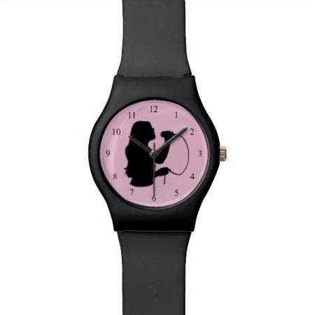 Female Singer Pink Wristwatches