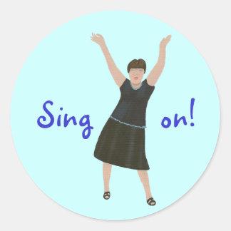 Female singer, Sing on, karaoke stickers
