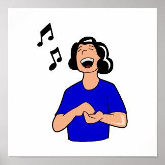 female singer top half blue shirt.png poster
