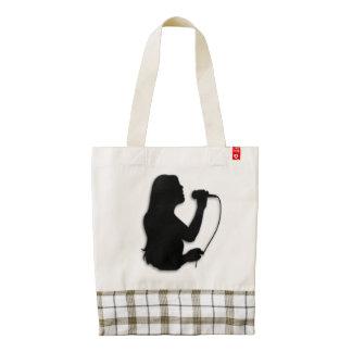 Female Singer Zazzle HEART Tote Bag