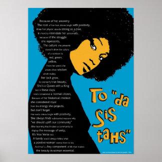 """Female """"Sistah's"""" Tribute Poster"""