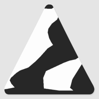 Female Skateboarder Triangle Sticker