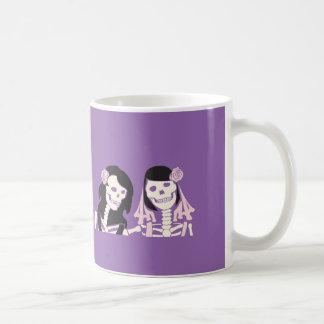 Female Skeleton Couple Design Coffee Mug