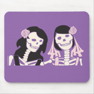 Female Skeleton Couple Mouse Pad