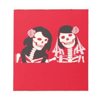 Female Skeleton Couple Notepad