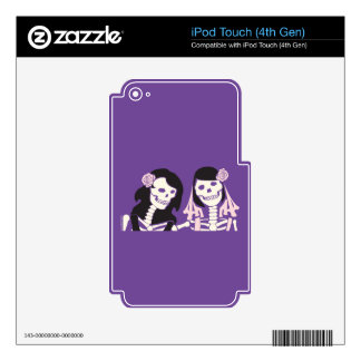 Female Skeleton Couple Skin For iPod Touch 4G