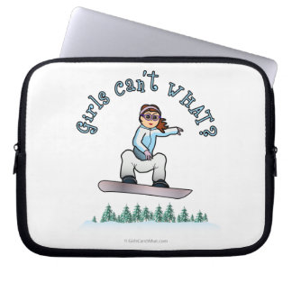 Female Snowboarder with Red Hair Laptop Computer Sleeve