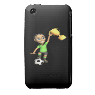 Female Soccer Champion iPhone 3 Case-Mate Cases