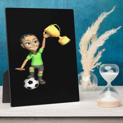 Female Soccer Champion Photo Plaque