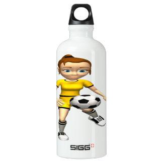 Female Soccer Player Aluminum Water Bottle