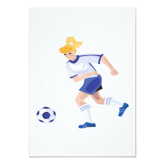Female Soccer Player Card