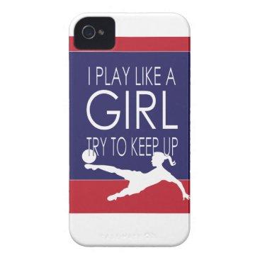 Female Soccer Player Case-Mate iPhone 4 Case