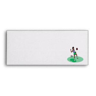 Female Soccer Player Envelopes